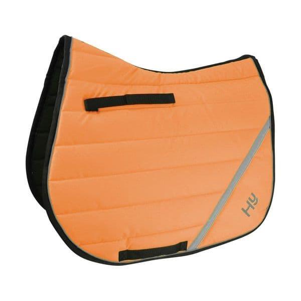 Reflector comfort pad by hy equestrian - orange